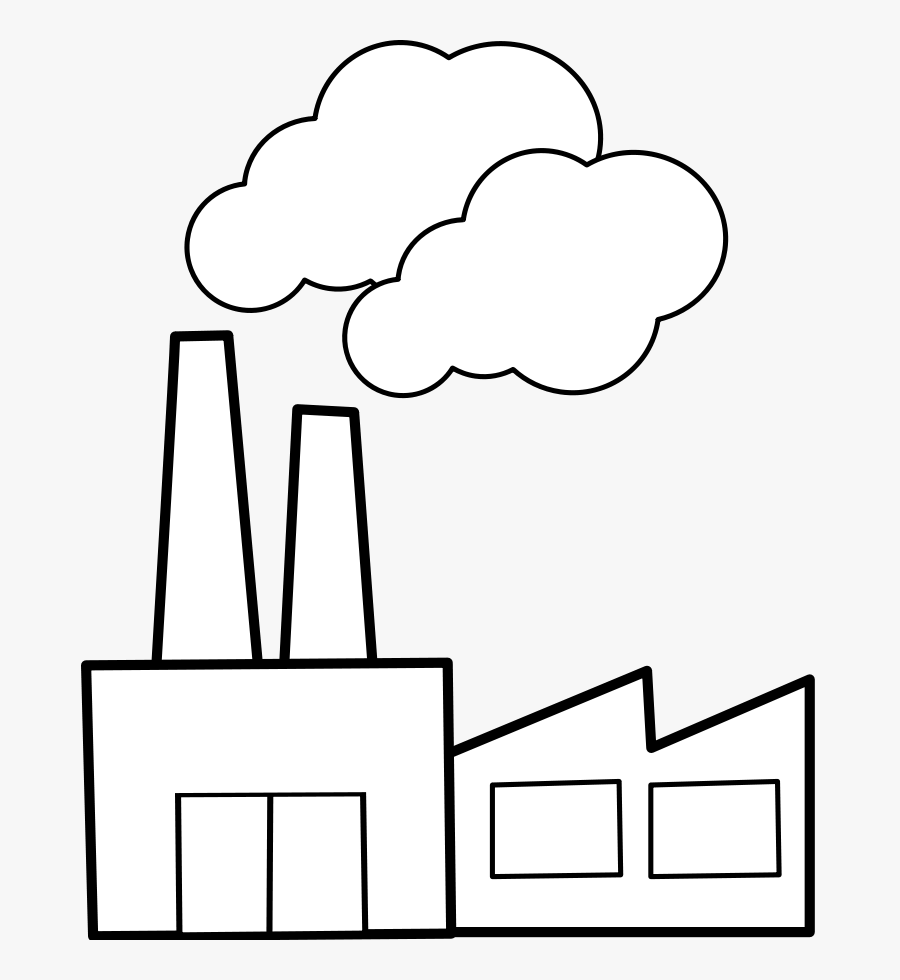 Usine / Factory - Factory Clipart Black And White, Transparent Clipart