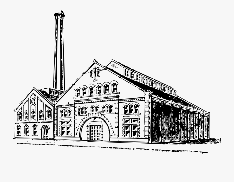 Old Factory - Old Factory Clipart, Transparent Clipart