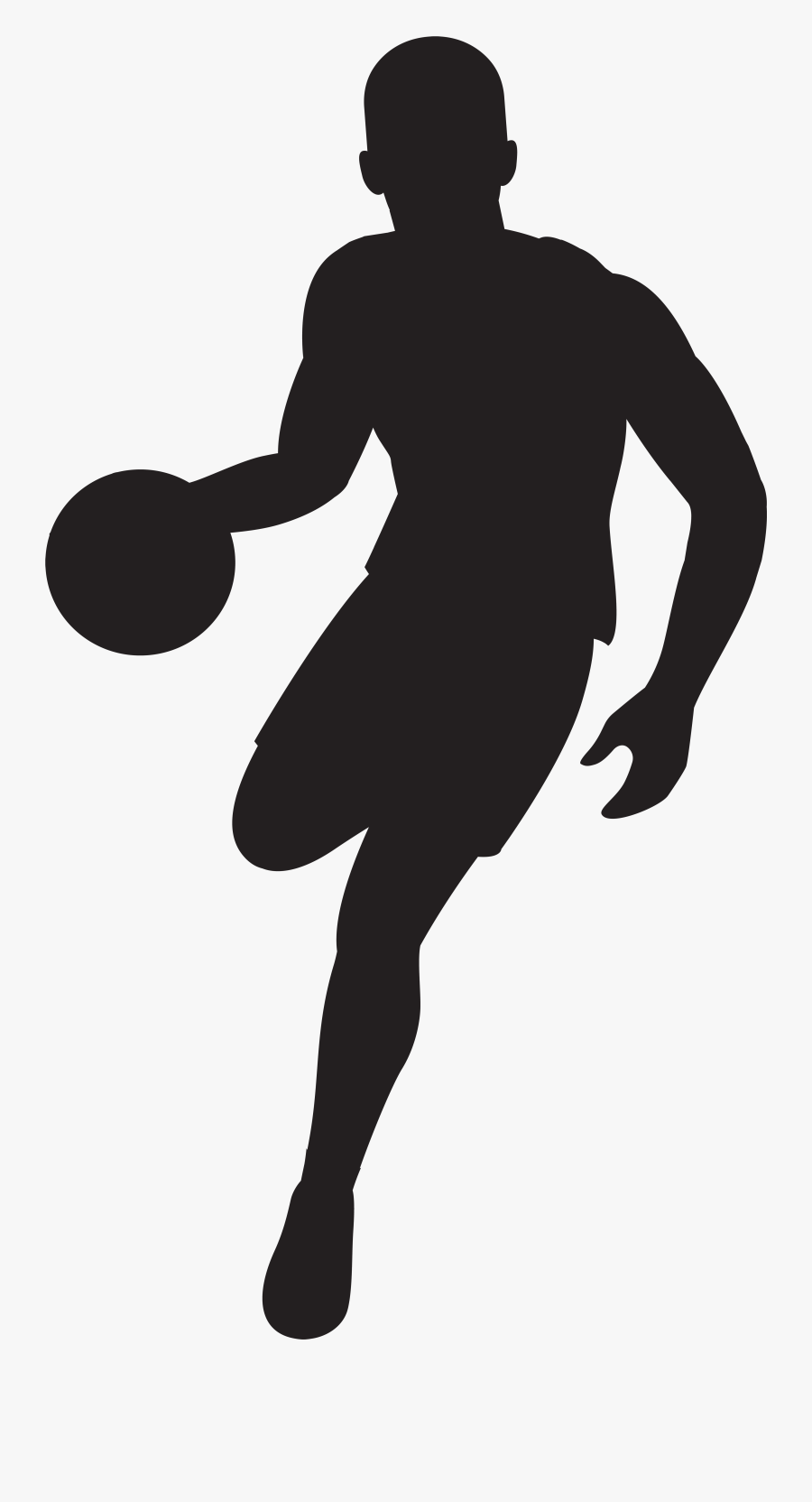 Player Silhouette Clip Art - Silhouette Basketball Player Clipart, Transparent Clipart