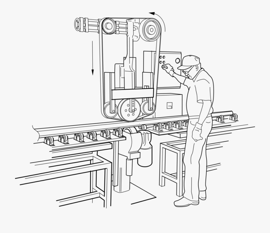 Transparent Copy Machine Clipart - Factory Worker Clipart Black And White, Transparent Clipart