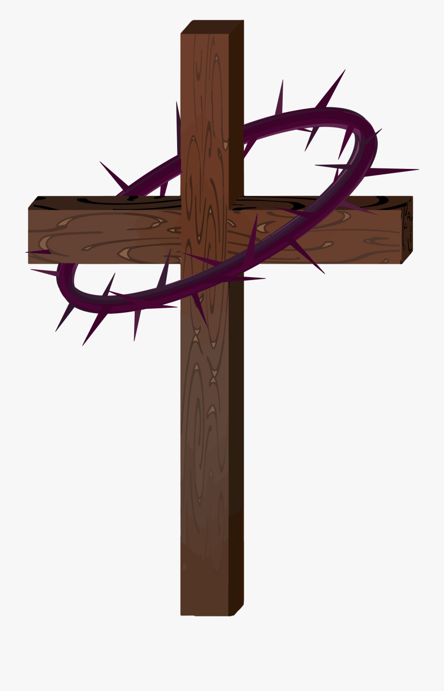 Lent Clipart Cross Free Picture - Cross Crown Of Thorns, Transparent Clipart
