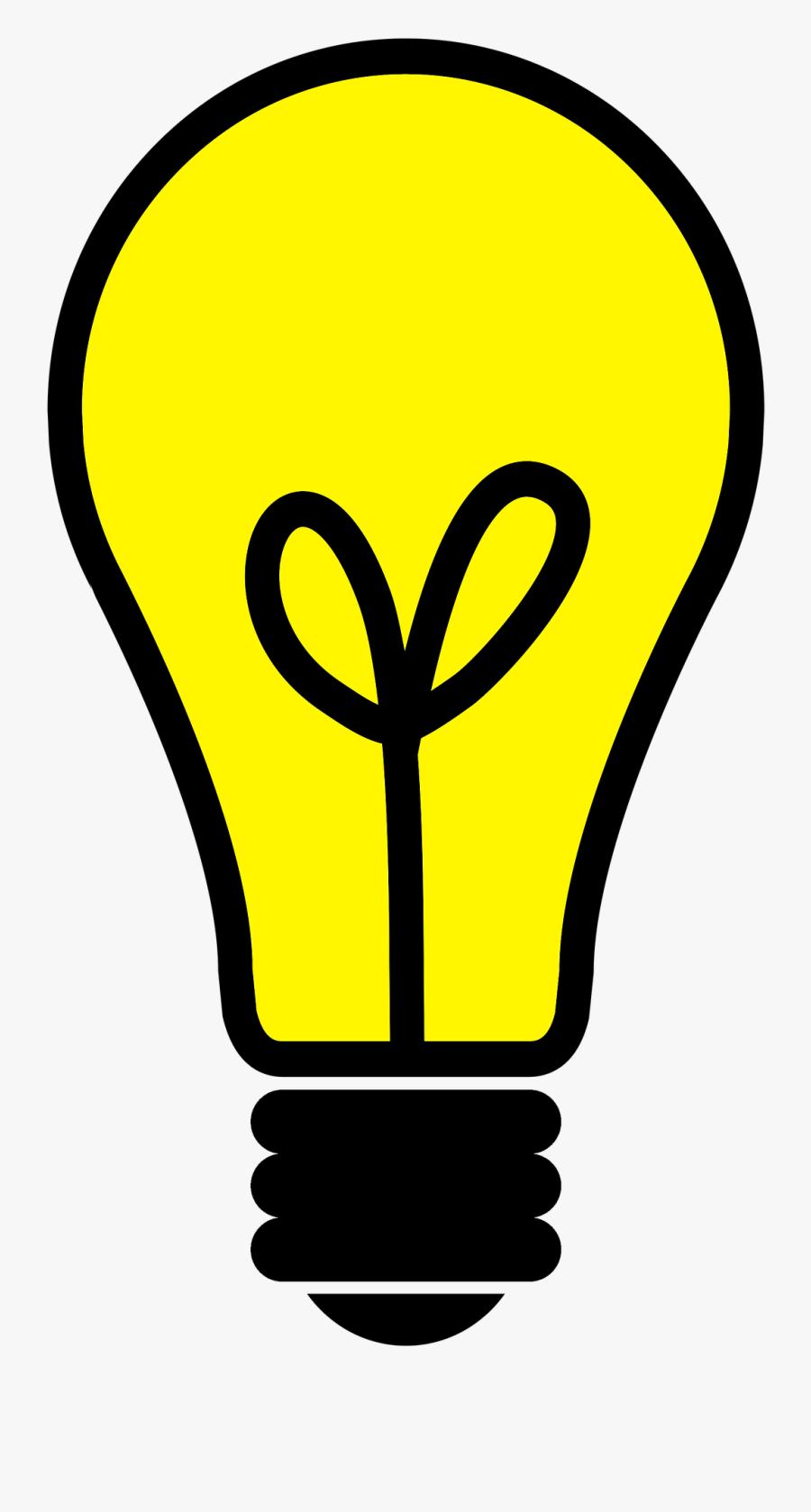 Light Bulb Png Transparent - Light Bulb Illustration Png, Transparent Clipart