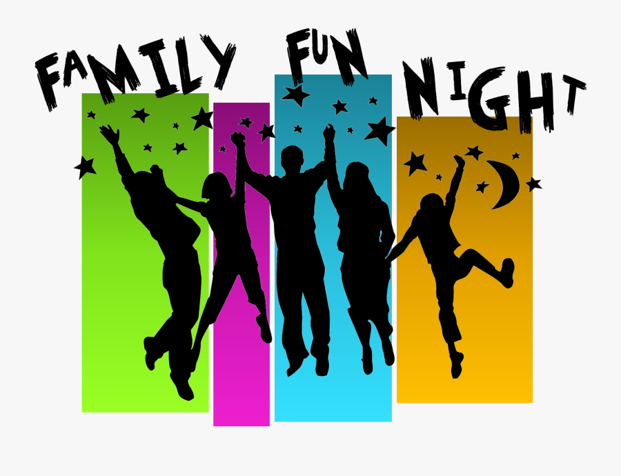 Transparent Family Silhouette Png - Family Fun Night, Transparent Clipart