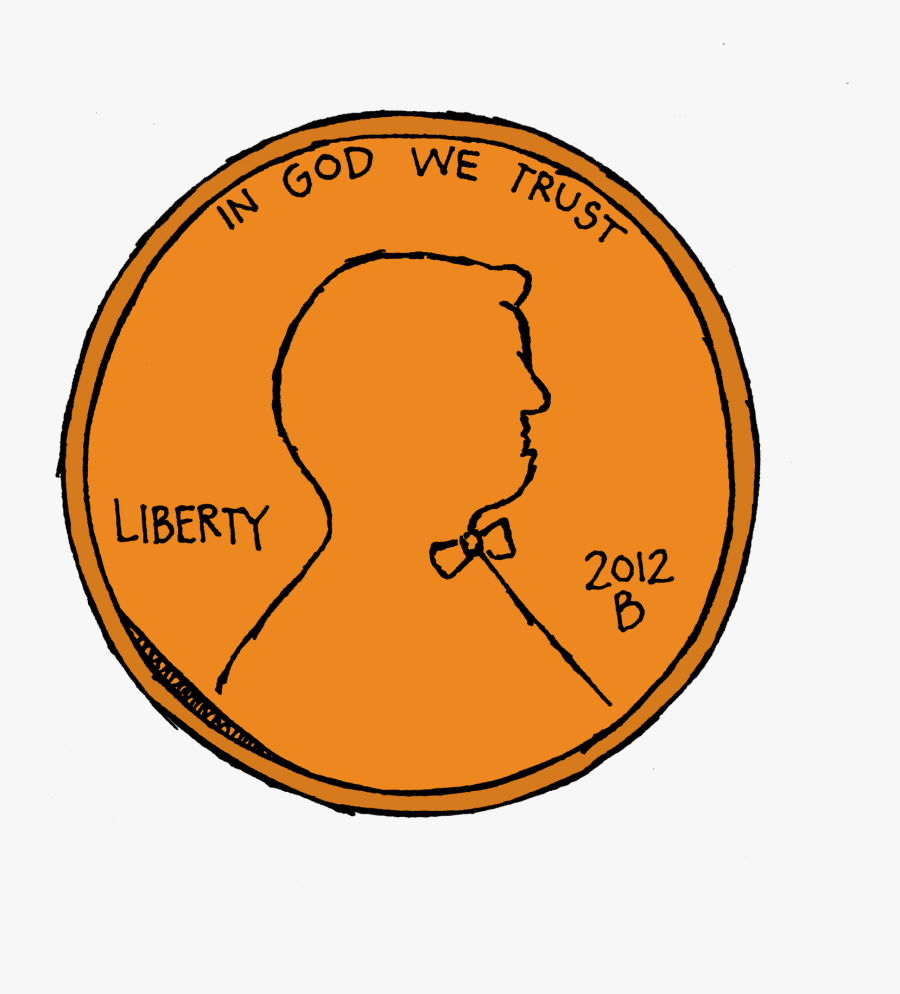 Pennies Clip Art - Drawing Of Penny Coin, Transparent Clipart