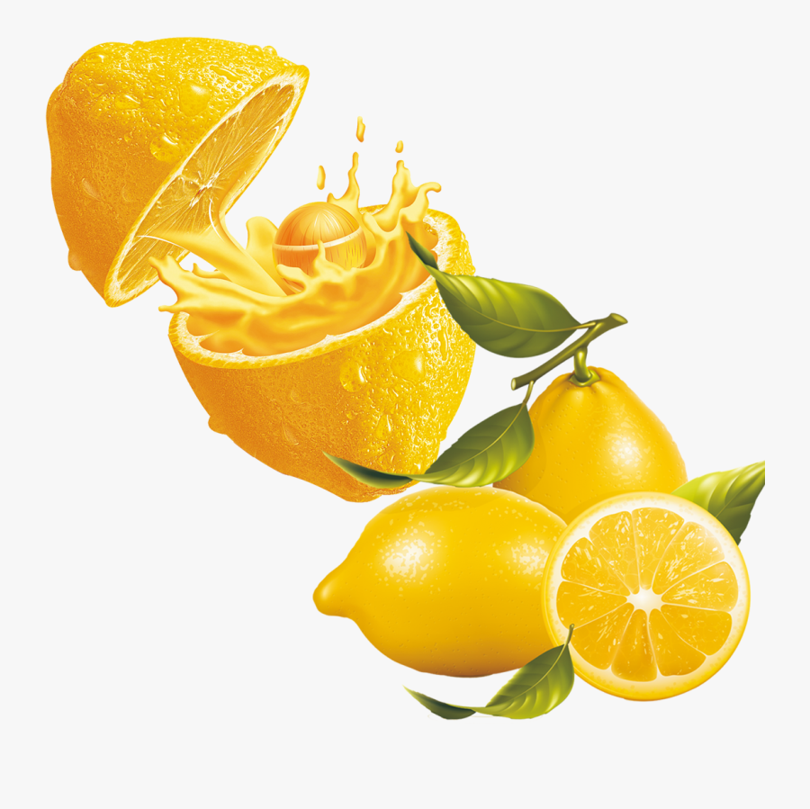 Juice Lemonade Clip Art - Real Fruit Illustration, Transparent Clipart