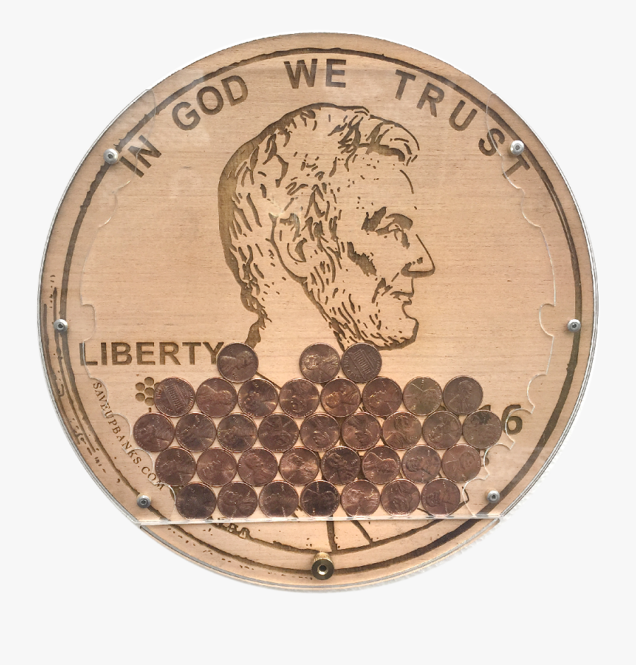 Clip Art Penny Saveupbanks James - Coin, Transparent Clipart