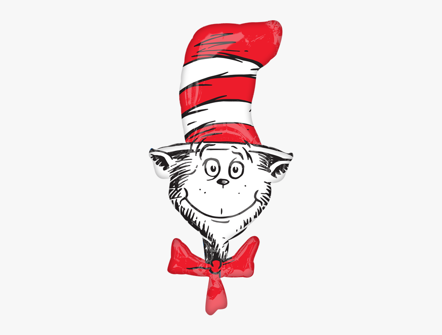 Cat In The Hatdr Seuss Birthday Party Supplies Canada - Cat In The Hat Head, Transparent Clipart