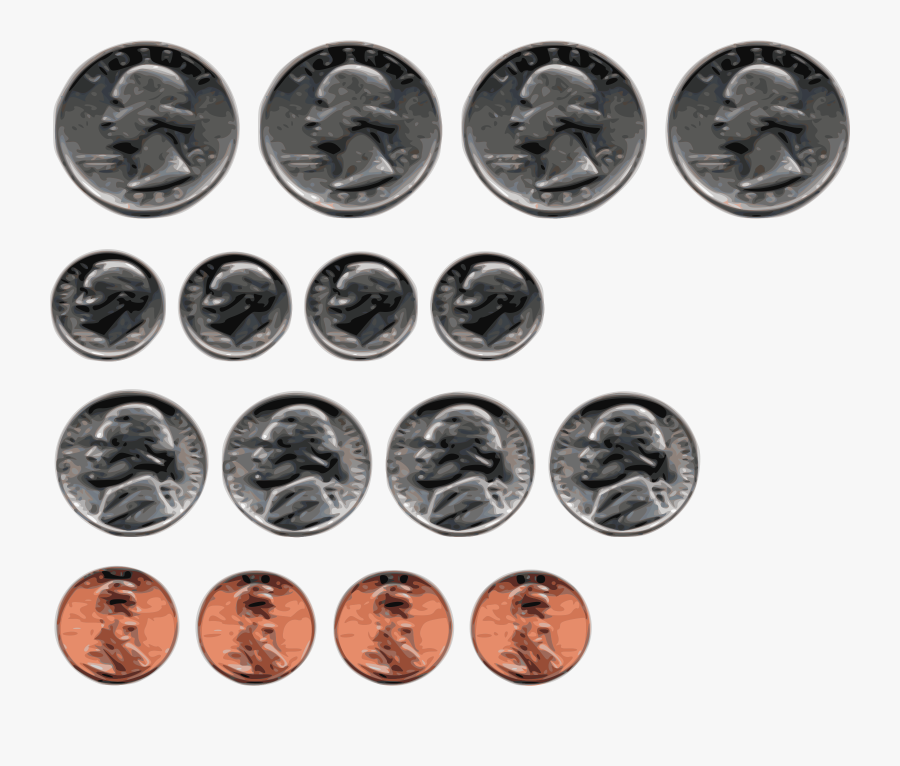 Button,coin,silver - All The Us Coins, Transparent Clipart