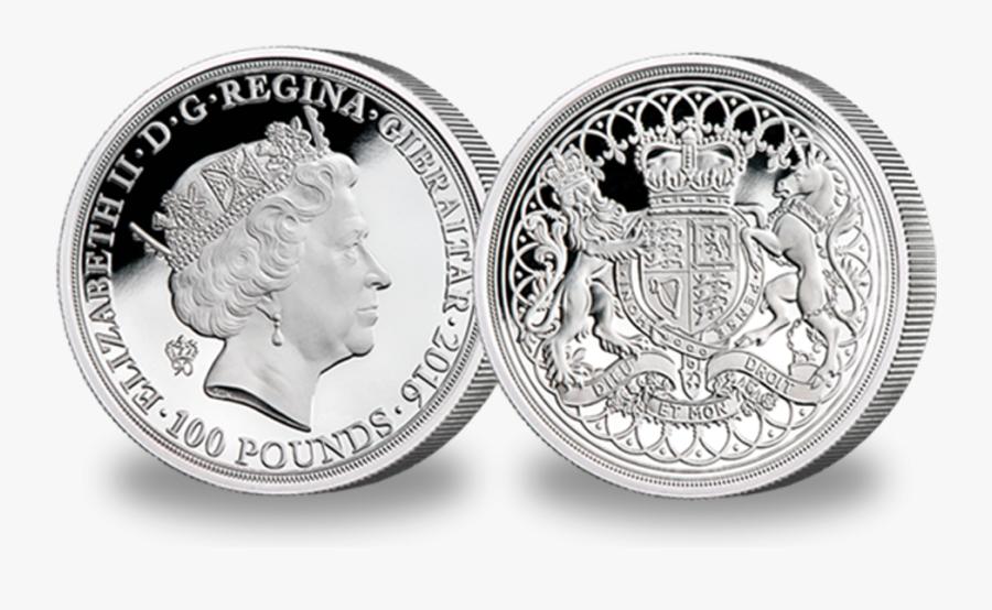 Pennies Clipart Coin British - Queen Elizabeth 90th 100 Birthday Coin, Transparent Clipart