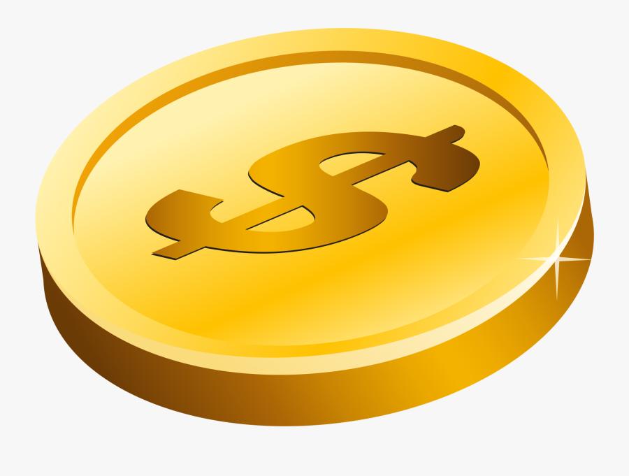Onlinelabels Clip Art Gold - Transparent Background Coin Clipart, Transparent Clipart