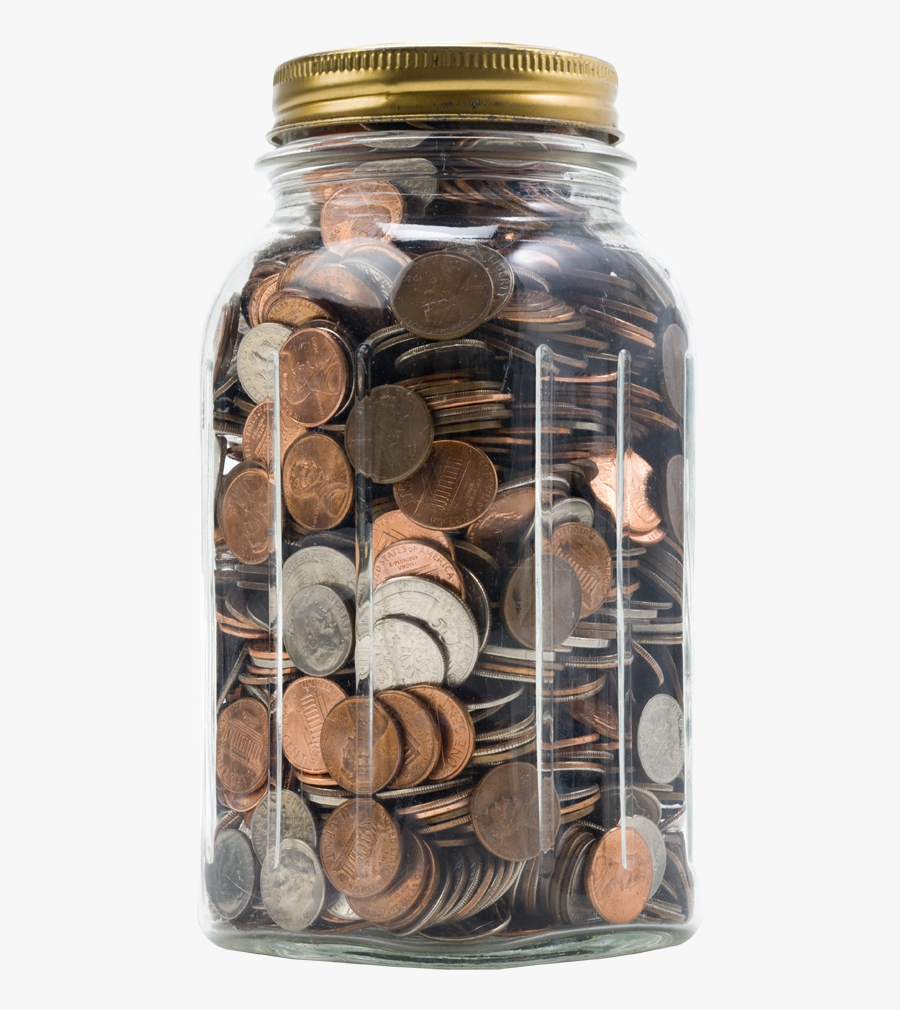 While No Commitment Is Required From Those Who Row - Jar Of Coins Png, Transparent Clipart