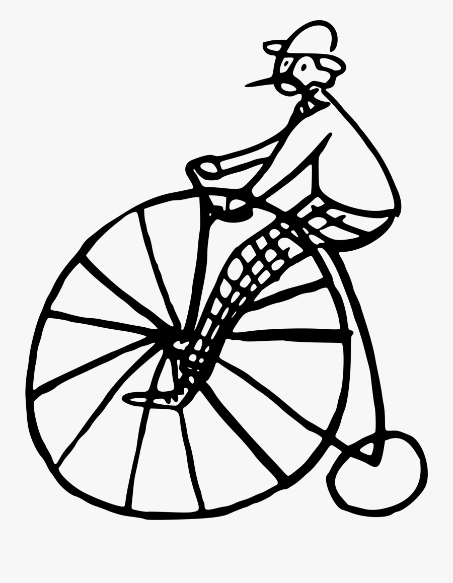 Bicycle Accessory,line Art,bicycle - Penny Farthing Cycle Png, Transparent Clipart