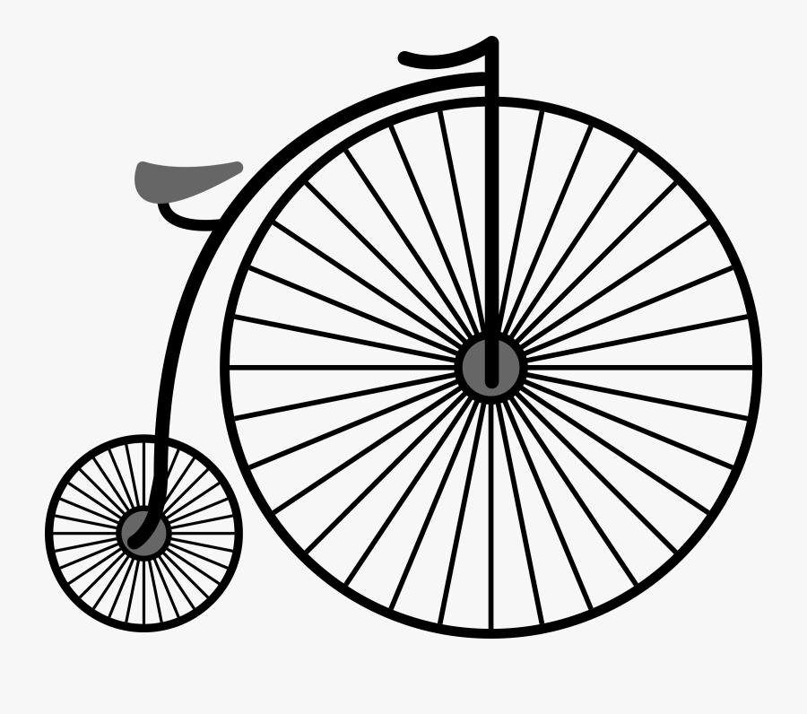 Penny Farthing Bicycle - Penny Farthing Bicycle Transparent Background, Transparent Clipart