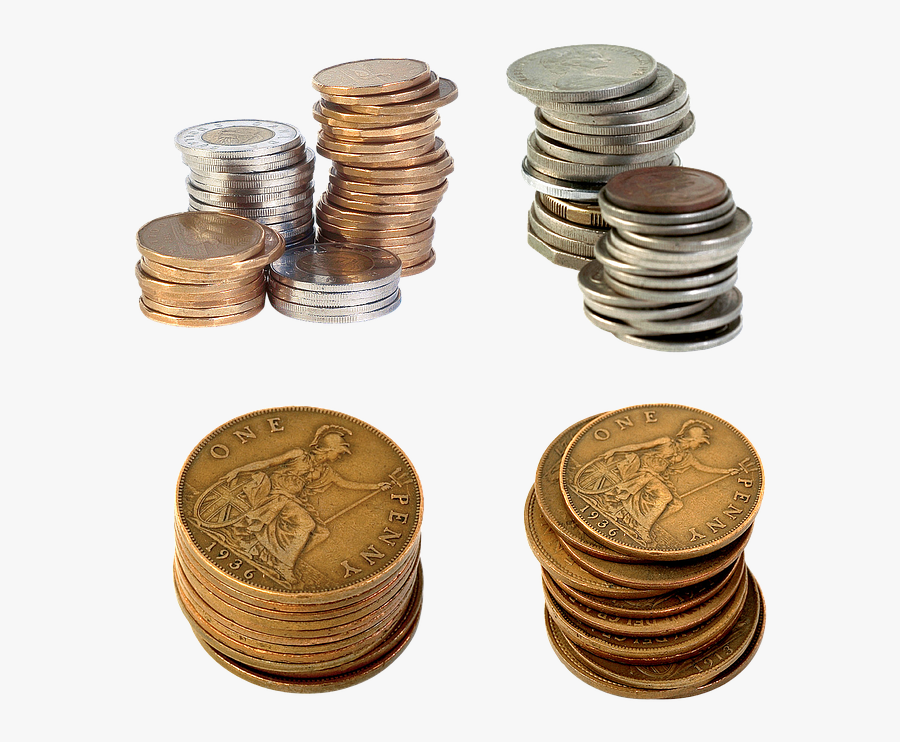 Transparent Penny Front And Back Clipart - Coins, Transparent Clipart