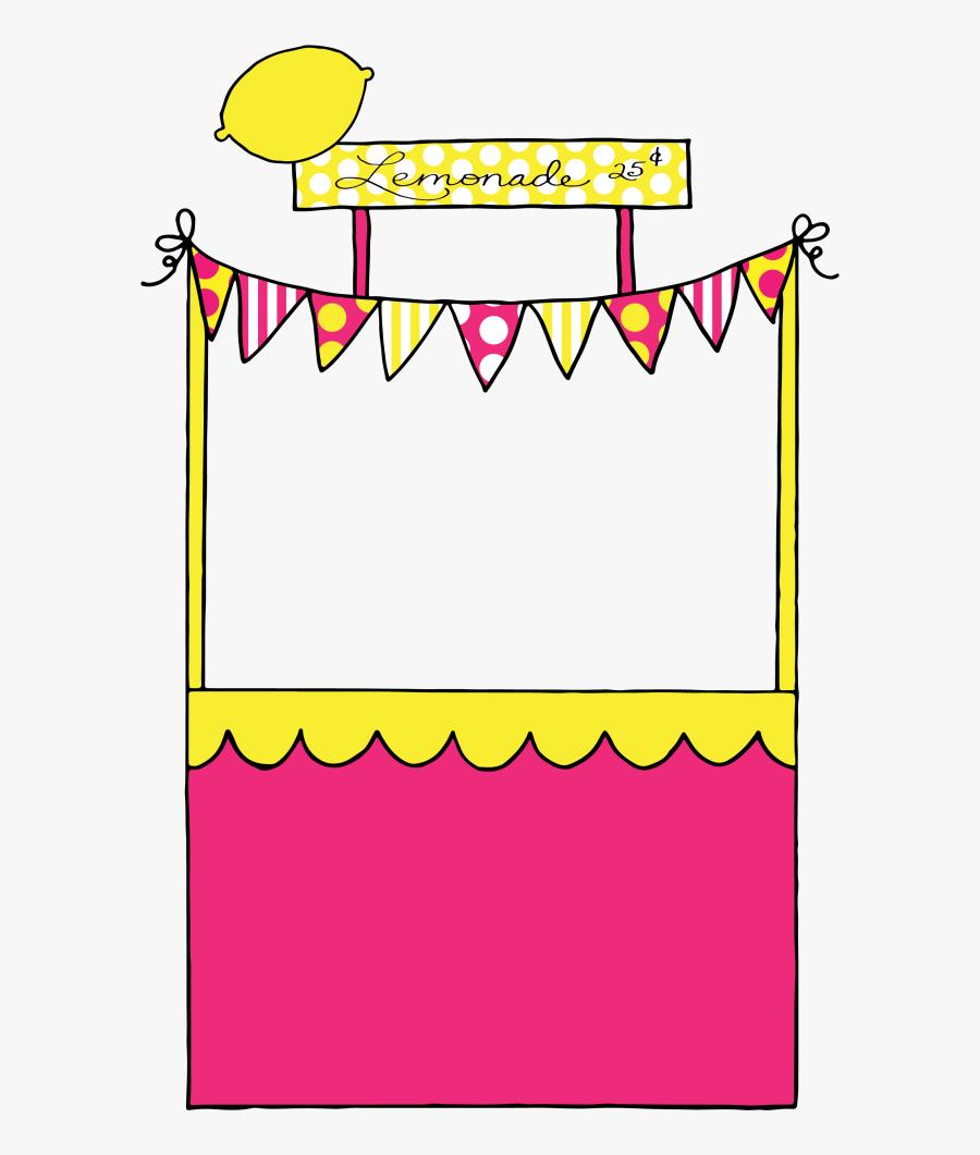 Jpg Library Lemonade Stand Clipart - Pink Lemonade Stand Clipart, Transparent Clipart
