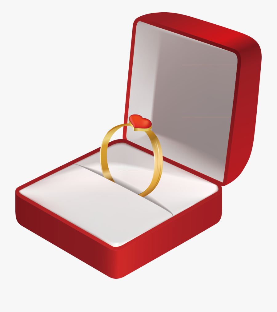 Wedding Ring In Box Clipart - Wedding Ring Box Transparent, Transparent Clipart