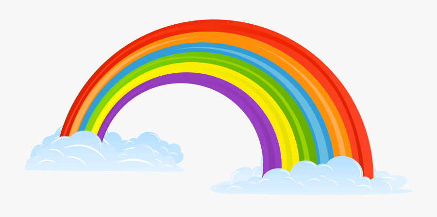Clip Black And White Library Huge - Rainbow On Cloud Drawing, Transparent Clipart