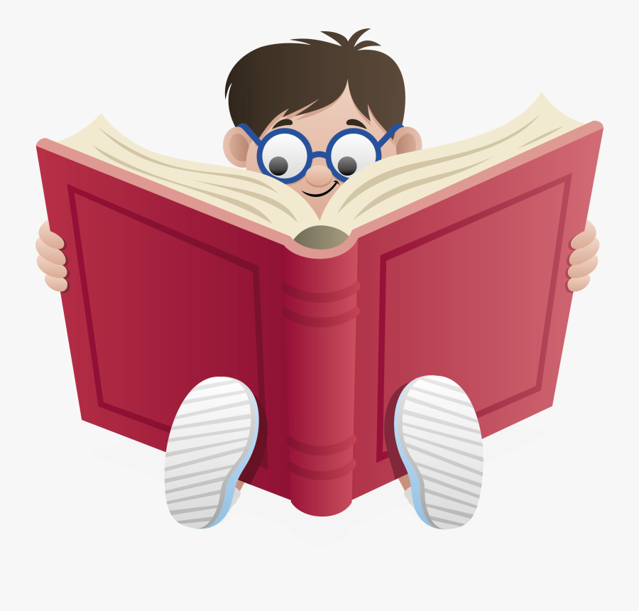 Royalty-free Book Clip Art - Reading A Book No Background, Transparent Clipart