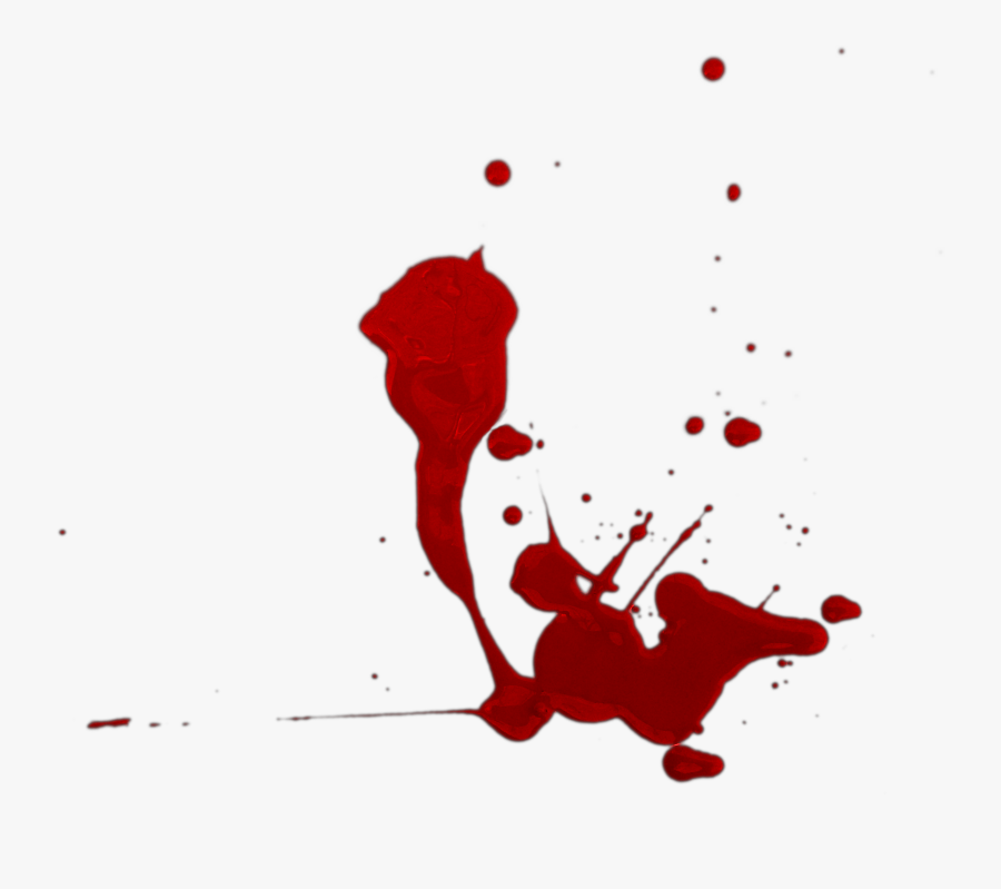 Transparent Blood Dripping Transparent Png - Cartoon Blood Splatter Transparent, Transparent Clipart