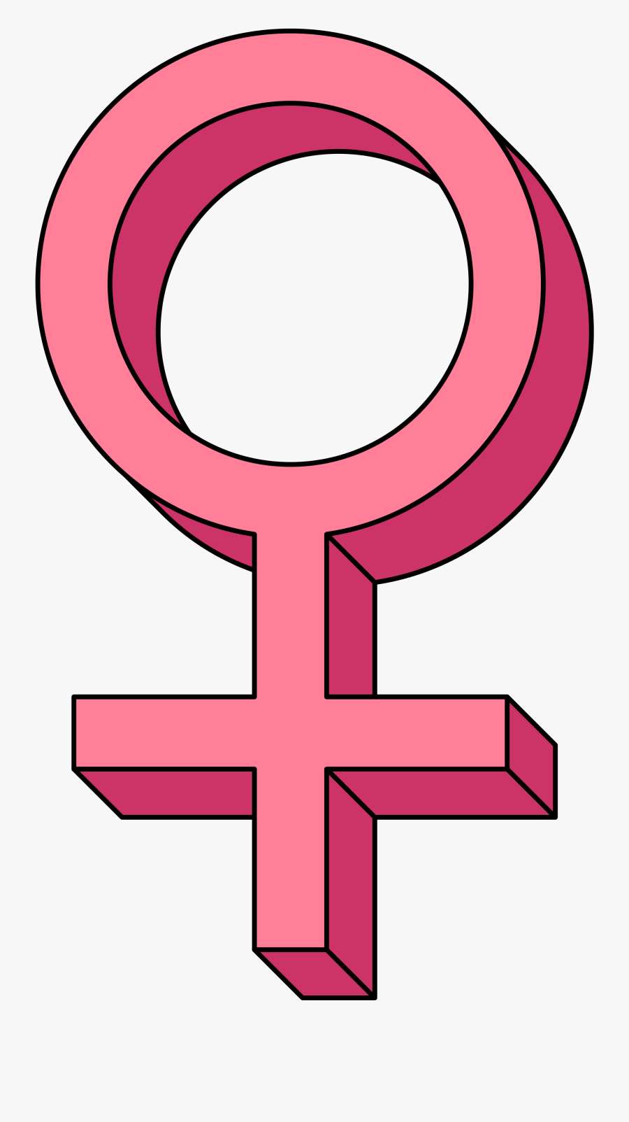 Graphic Library Collection Of Free Femineity Clipart - Female Gender Symbol Transparent, Transparent Clipart