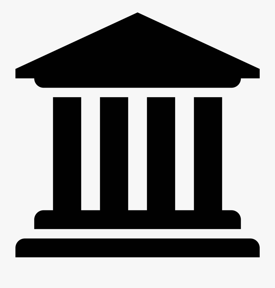 Banner Transparent Library Bank Clipart Black And White - University Clipart, Transparent Clipart