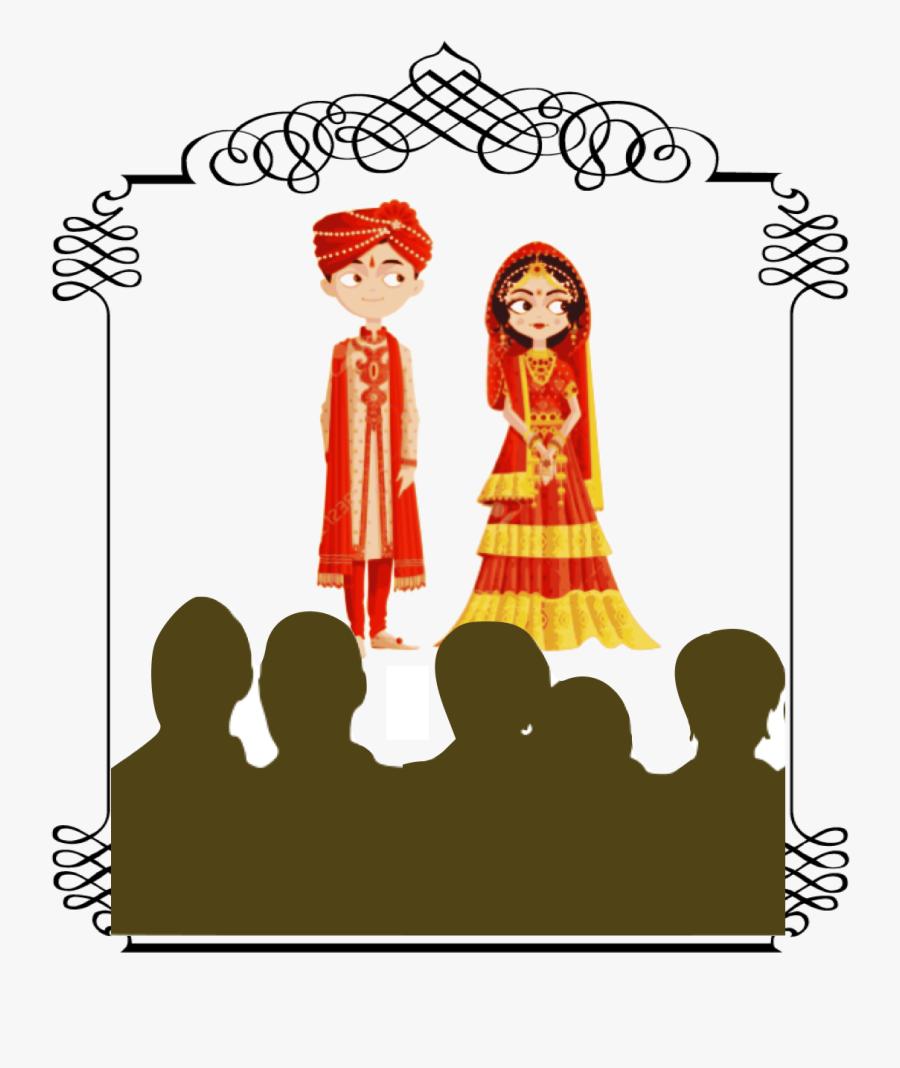 Wedding Bride And Groom Cartoon India Clipart , Png - Indian Bride And Groom Cartoon Png, Transparent Clipart
