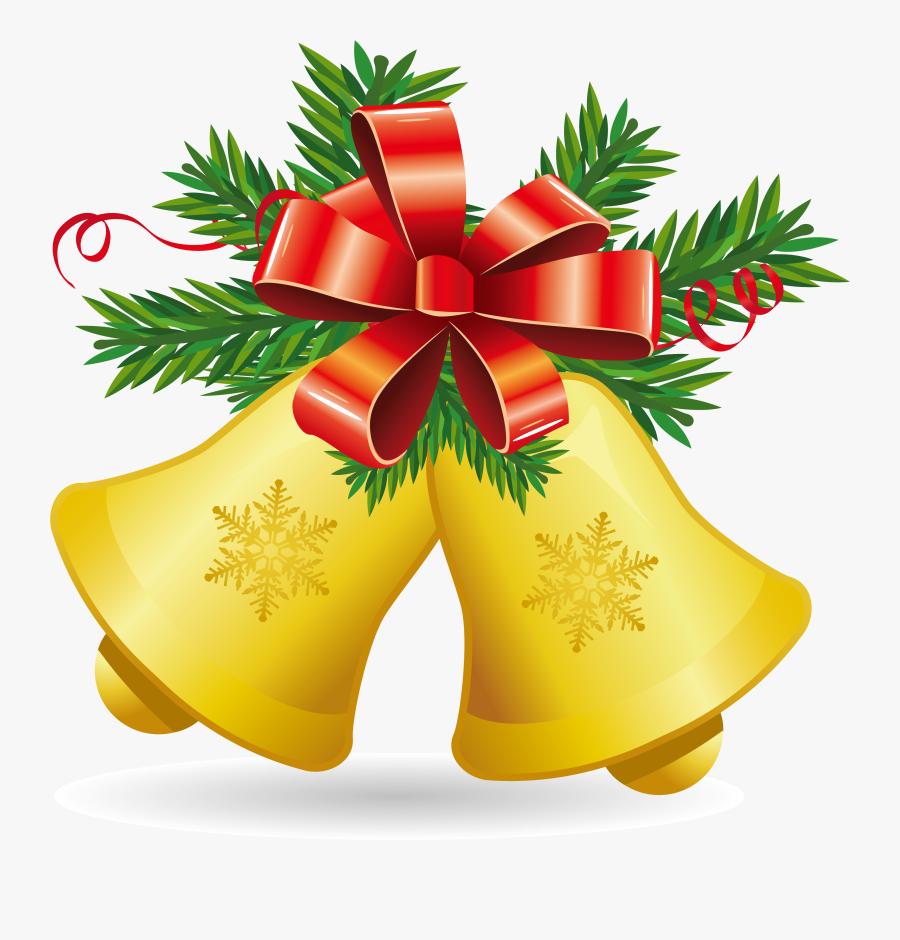 Transparent Mitten Clipart - Clip Art Christmas Bells, Transparent Clipart