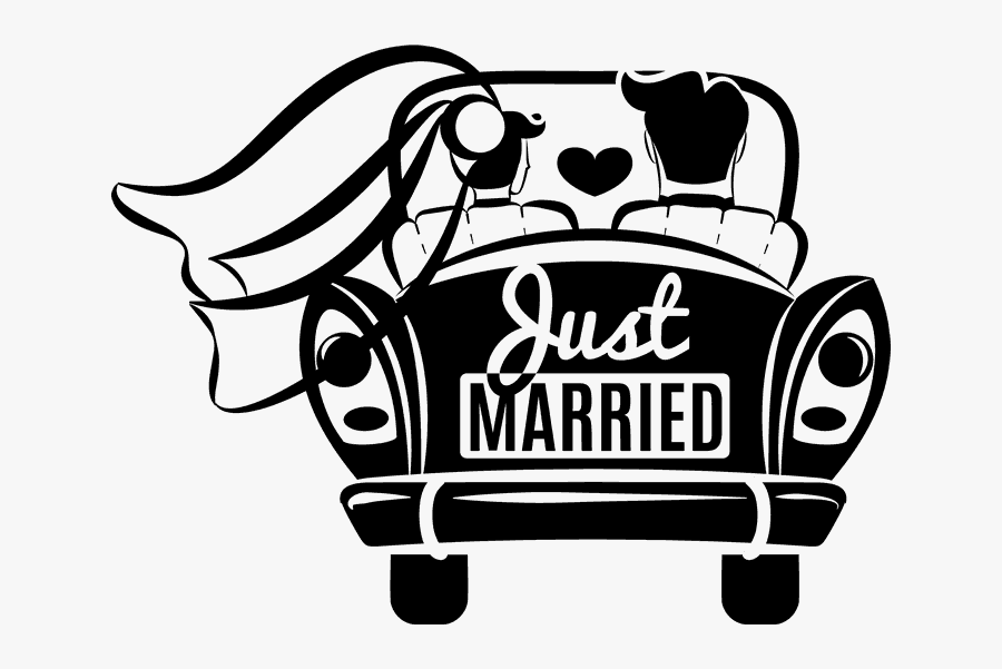 Znalezione Obrazy Dla Zapytania Samochód Młodej Pary - Just Married Car Png, Transparent Clipart