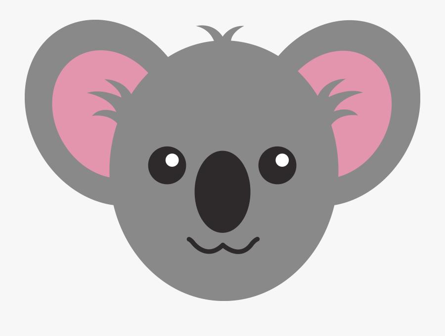 Cute Animal Face Clipart - Draw A Koala Face, Transparent Clipart