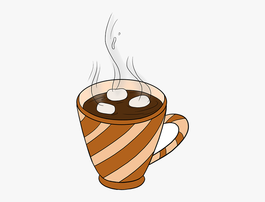 Hot Chocolate Drawing Coffee Cocoa Transparent Clipart - Hot Chocolate Easy Drawing, Transparent Clipart
