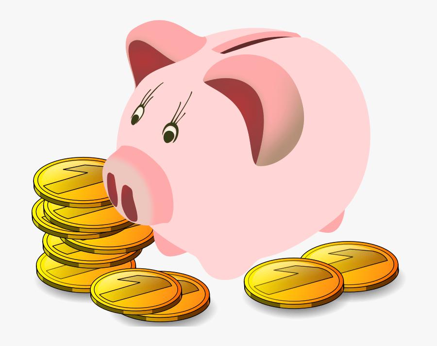 Piggy Bank - Piggy Bank And Money Clipart, Transparent Clipart
