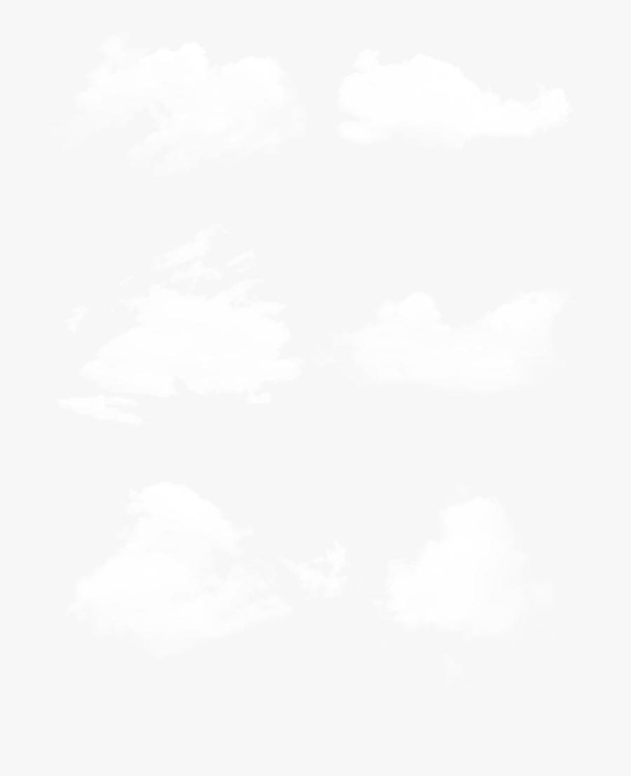 Transparent White Cloud Clipart Png - Monochrome, Transparent Clipart