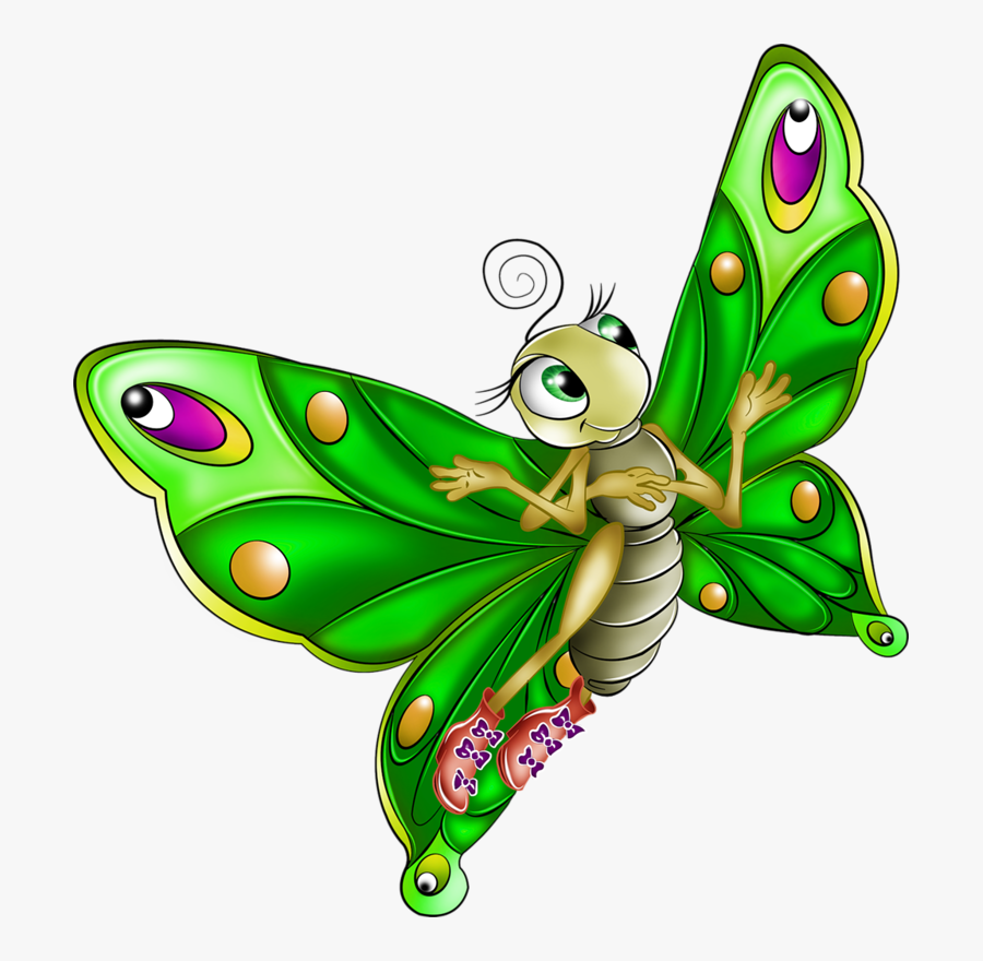 Very Colourful Butterfly Cartoon Images - Cartoon Butterfly, Transparent Clipart