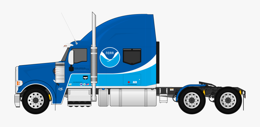 Banner Download Collection Of Semi - Semi Trailer Truck Drawing, Transparent Clipart