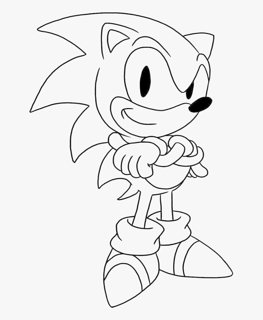 Sonic Is Being Issued A Thumbs Up The Hand Coloring Sonic The Hedgehog Colouring Pages Free Transparent Clipart Clipartkey