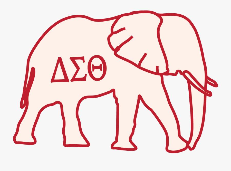 Transparent Delta Sigma Theta Elephant, Transparent Clipart