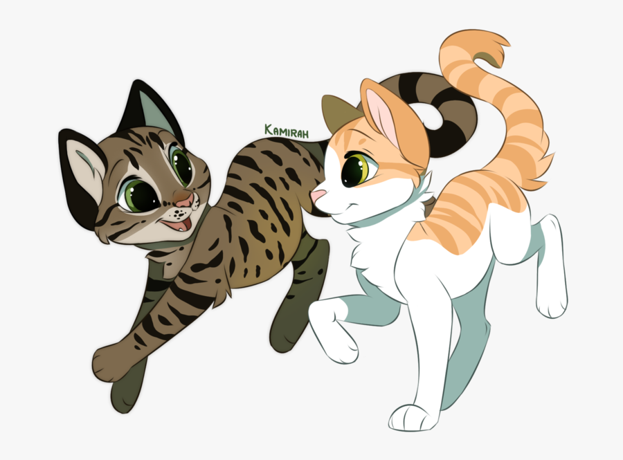 Kittens Clipart Striped Cat - Furry Cat Drawing, Transparent Clipart