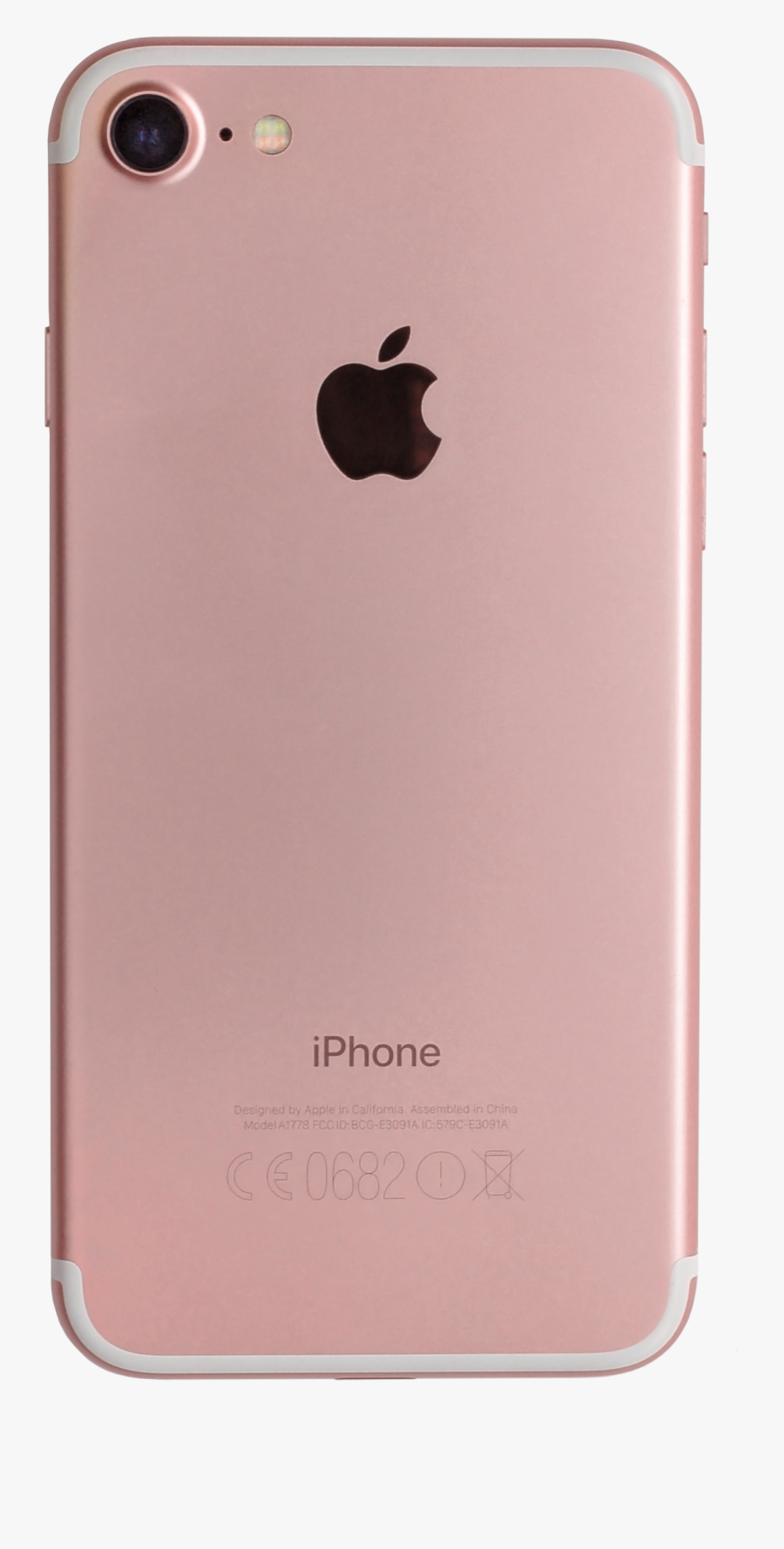 File A Back Retouch - Iphone 7 Rosegold Png, Transparent Clipart