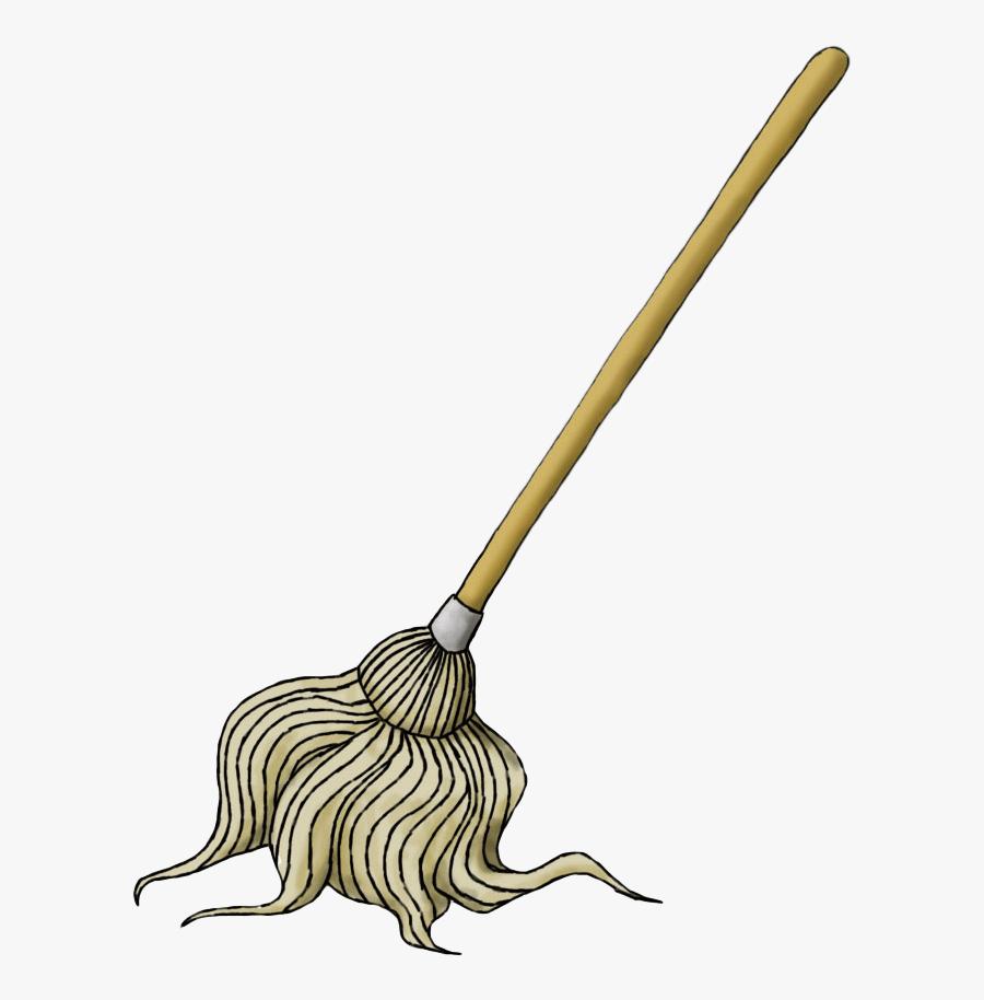 Mop Clipart Soft Broom - Mop Transparent, Transparent Clipart
