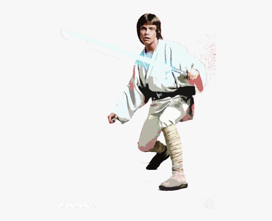 Luke Skywalker Clip Art - Star Wars Luke, Transparent Clipart