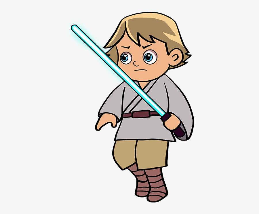 How To Draw Luke Skywalker - Luke Skywalker Father's Day Drawing, Transparent Clipart