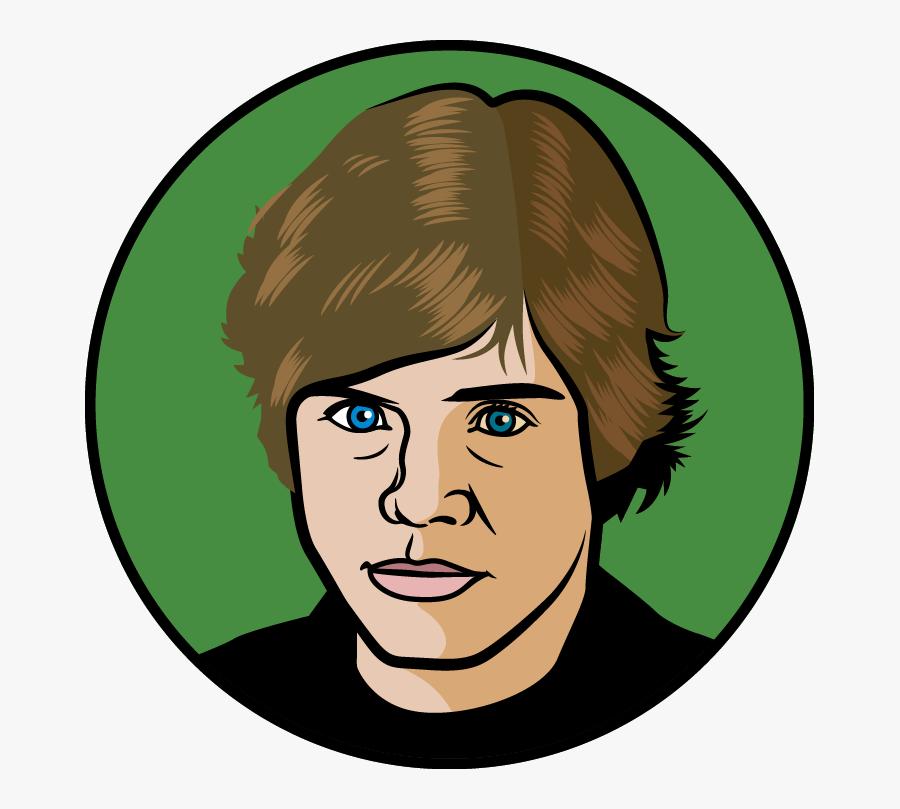 Attacking Midfielder, Central - Luke Skywalker Face Cartoon, Transparent Clipart