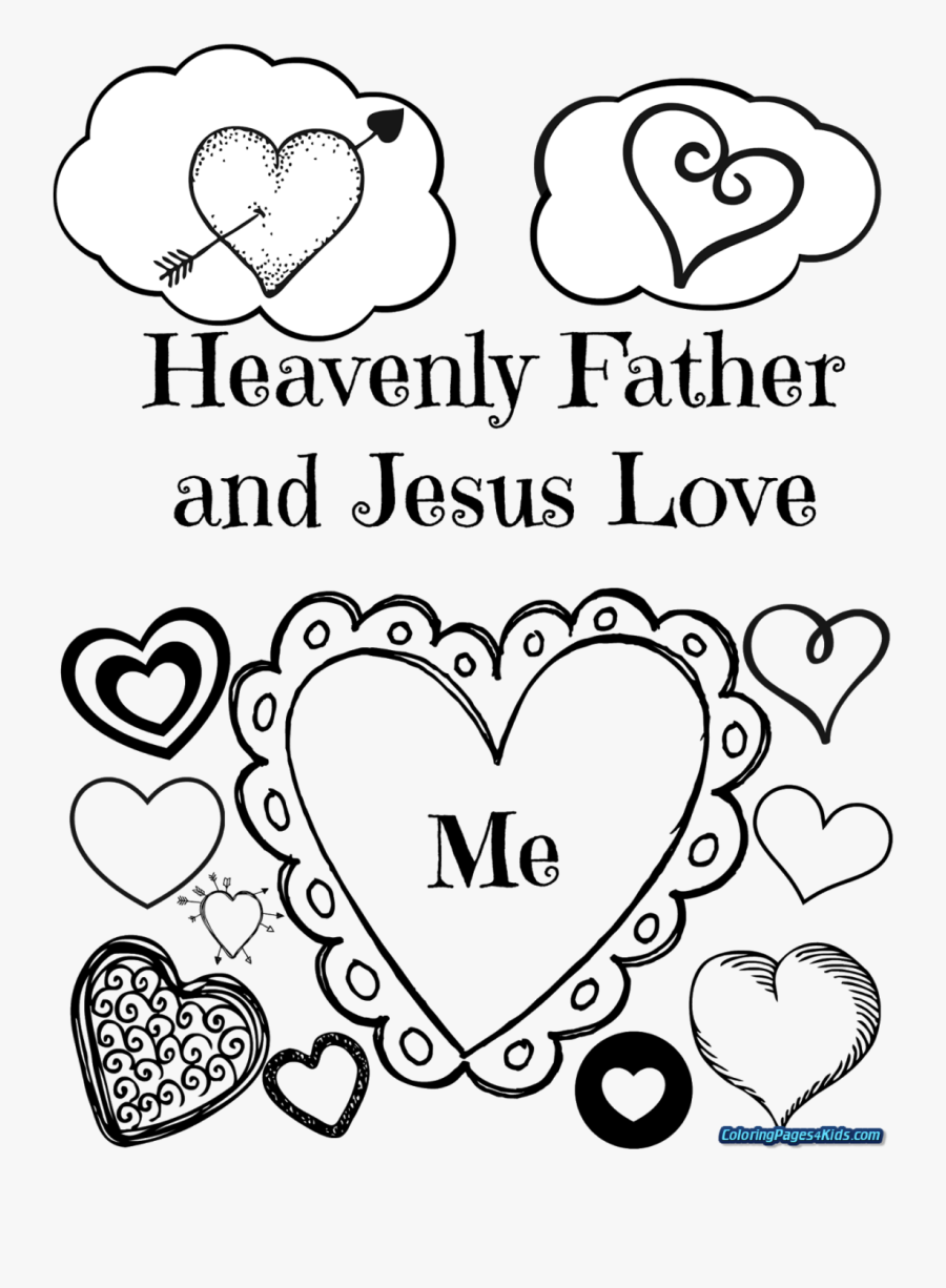 Heart Mothers Day Coloring Pages, Transparent Clipart