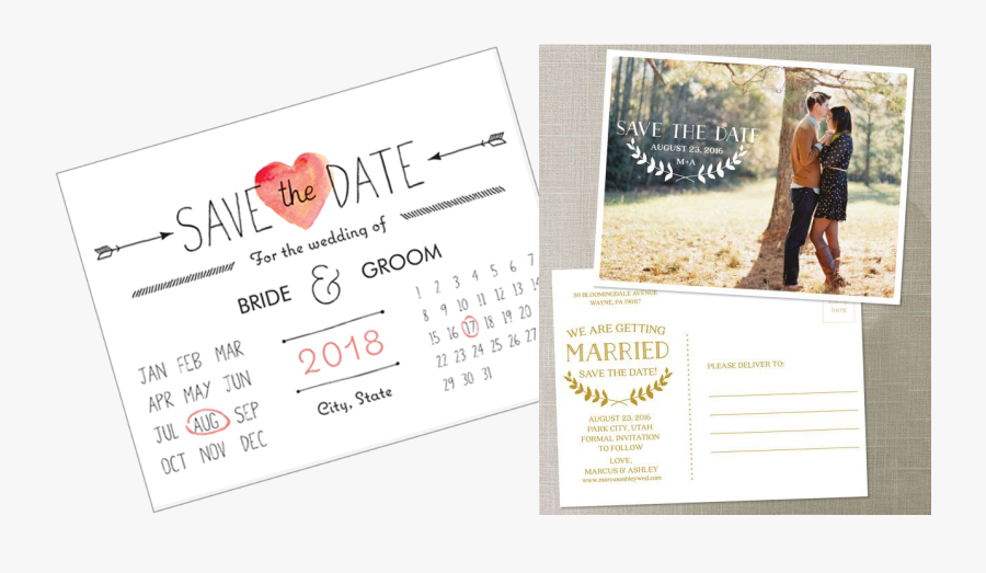 Save The Date Cards Vs Invitations - Save The Date 19 Jun, Transparent Clipart