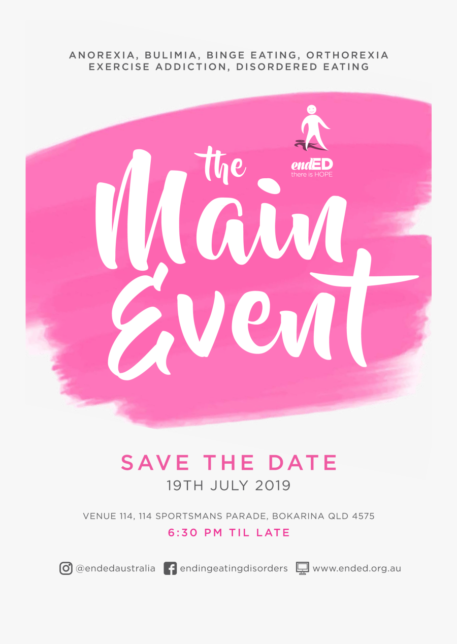 Ended Fundraising Save The Date Flyer Ps - Save The Date Event Poster, Transparent Clipart