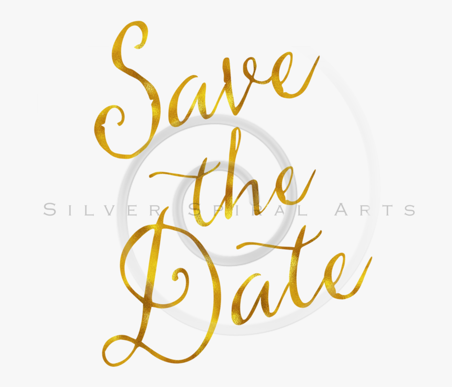 Save The Date Png - Save The Date Png Gold, Transparent Clipart