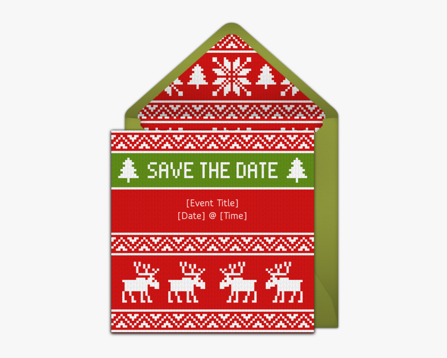 Free Christmas In July Save The Date Invitation Template, Transparent Clipart