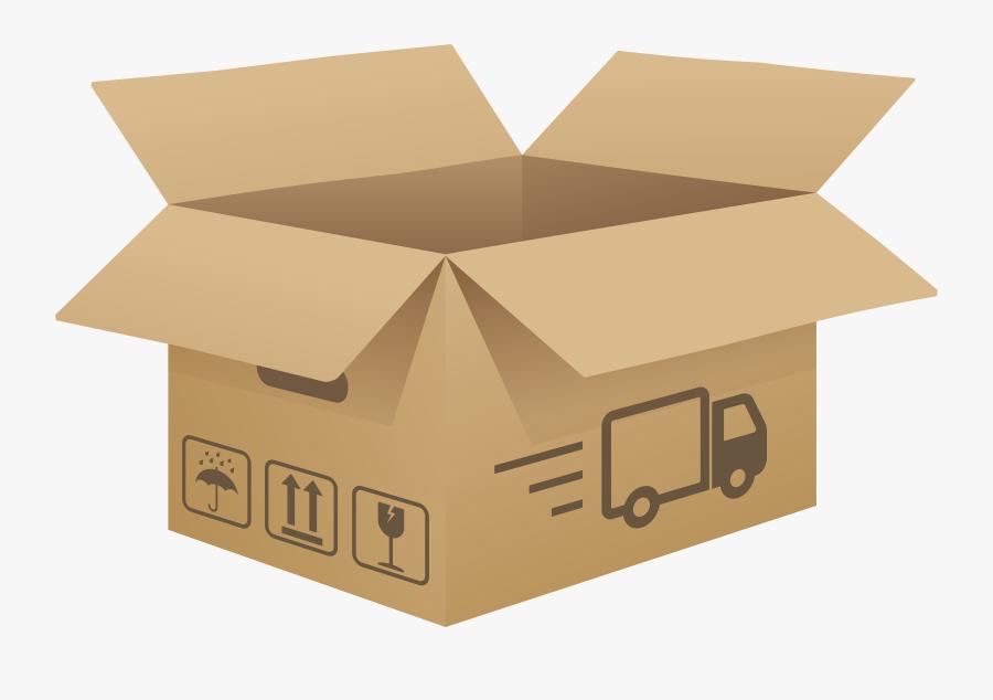 Open Cardboard Box Png Clip Art Image - Cardboard Box Clip Art, Transparent Clipart