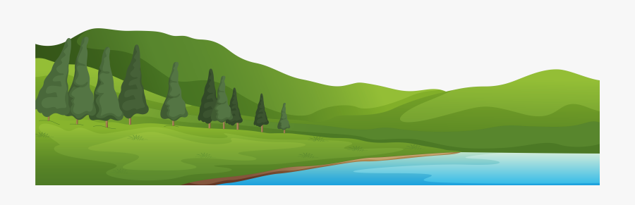 Grass Clipart Mountain Landscape - Lake With Mountains Clipart, Transparent Clipart