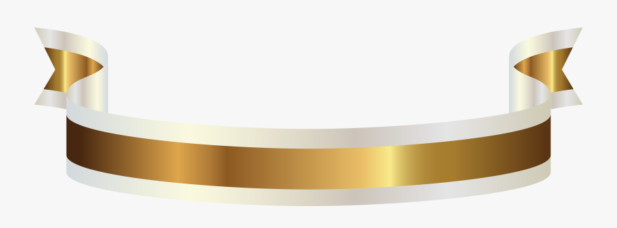 Gold And White Banner Png Clipart Picture - Gold And White Banners, Transparent Clipart